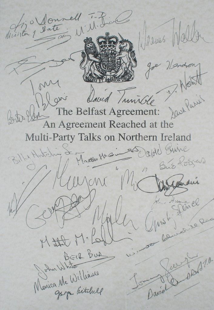 The Belfast Agreement Anagreement Reached At The Multi Party Talks