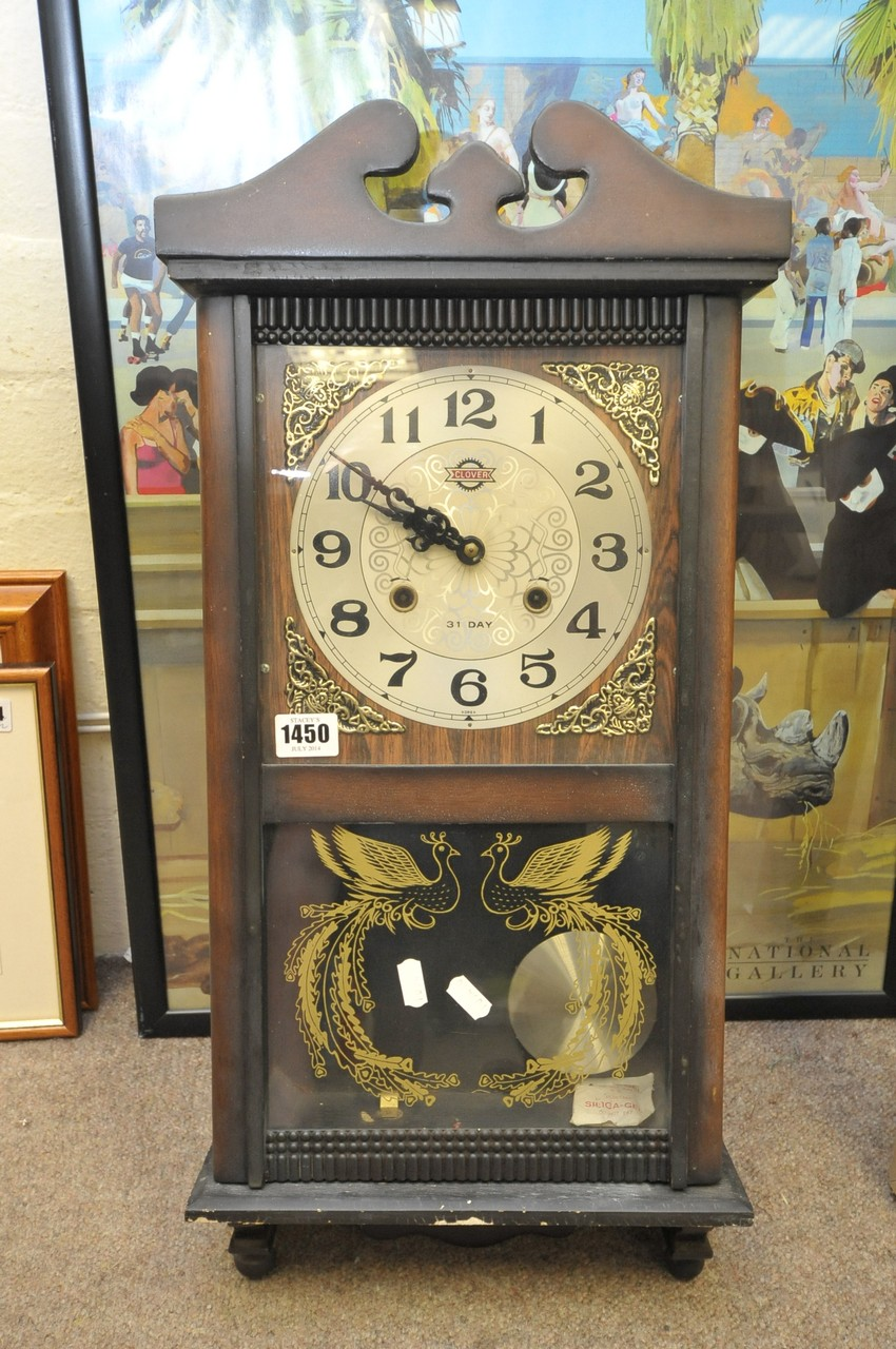 A clover 31 day wall clock lot 257 a clover 31 day wall clock amipublicfo Image collections