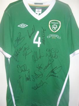 678256e83ea Ireland 2011 Match Worn Football Shirt: Worn by Liam Lawrence v ...