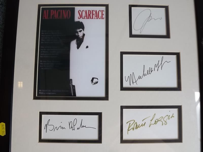 An Al Pacino, Scarface promotional picture bearing signatures of Al ...