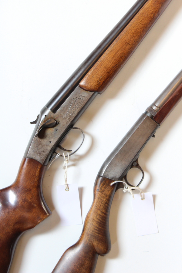 A Stevens model 940A single barrelled 12 bore shotgun together