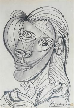 Pablo Picasso Spanish French 1881 1973 A Pencil Drawing
