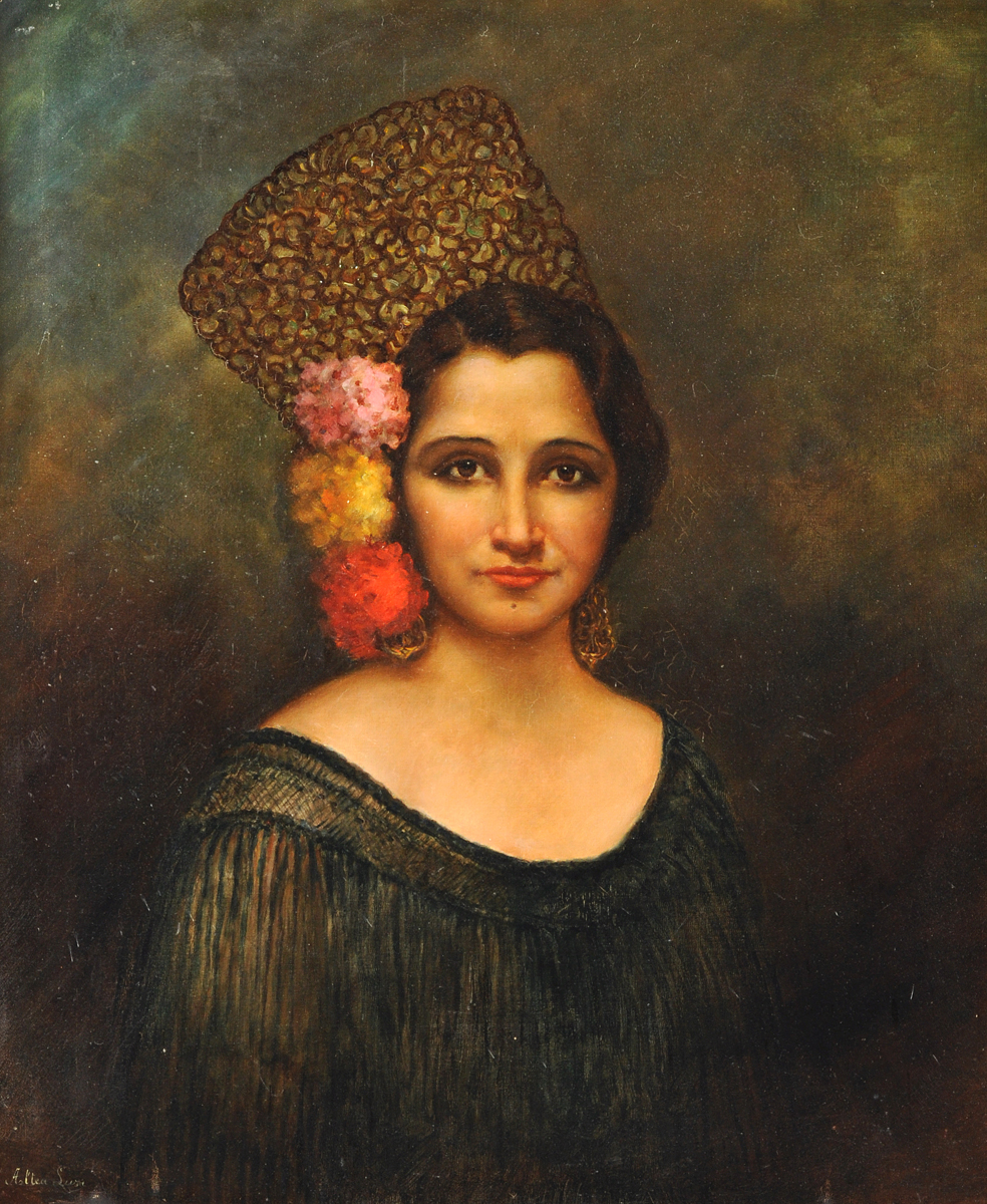 spanish school 19th century a painting quotportrait of