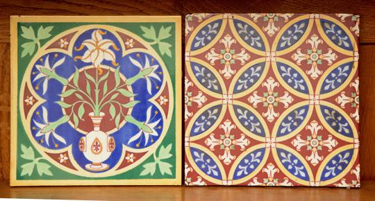 A MINTONS GOTHIC REVIVAL TILE After Design By Pugin Of Lily