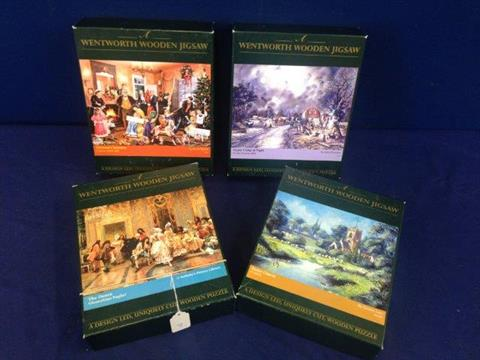 Four 500 Piece Wentworth Wooden Jigsaw Puzzles Victorian Christmas