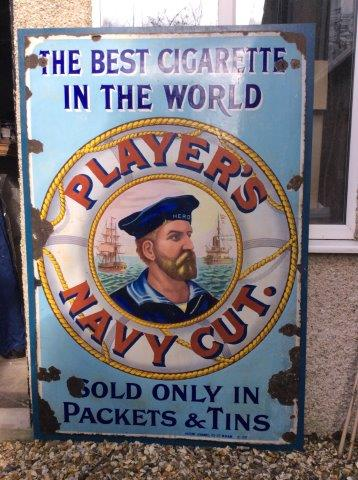 A Large Players Navy Cut Cigarettes Enamel Sign The Best