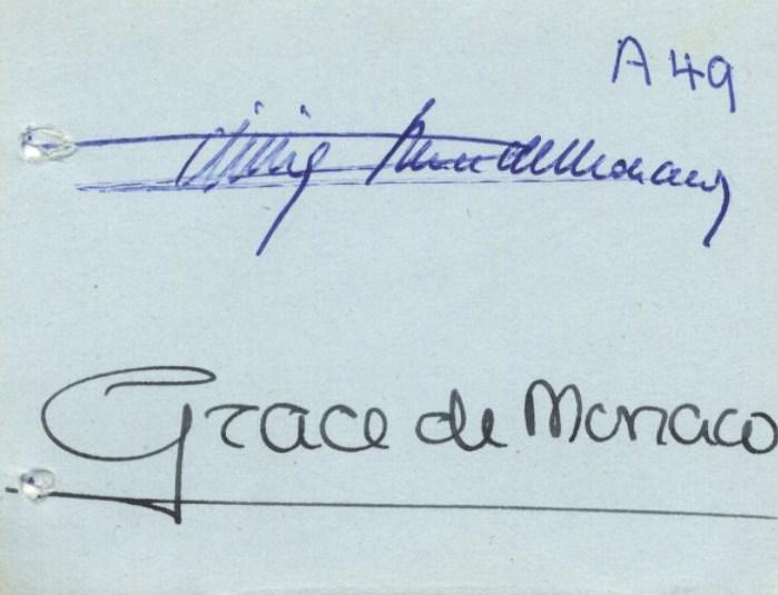 Lot 1130 - RAINIER III: (1923-2005) Sovereign Prince of Monaco 1949-2005 & KELLY GRACE (1929-1982) American