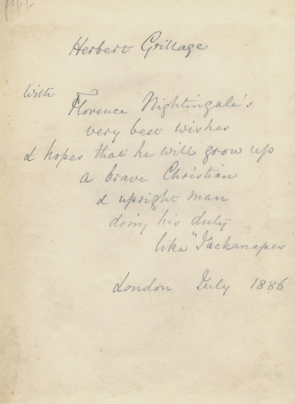Lot 558 - NIGHTINGALE FLORENCE: (1820-1910) British Pioneer of Nursing. Book signed and inscribed, an 8vo