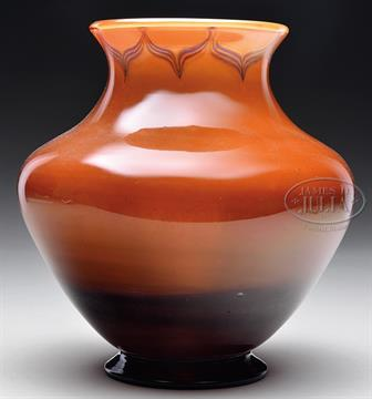Tiffany Tel El Armana Vase Tiffany Favrile Vase Has Deep