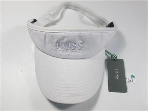 86568faca7 A HUGO BOSS 100% COTTON SUN VISOR IN WHITE WITH LOGO