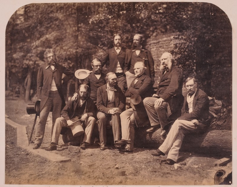 Lot 380 - Colonel Edmund Gilling Hallewell's Photographic Album A mixed photographic album of the 1850s and