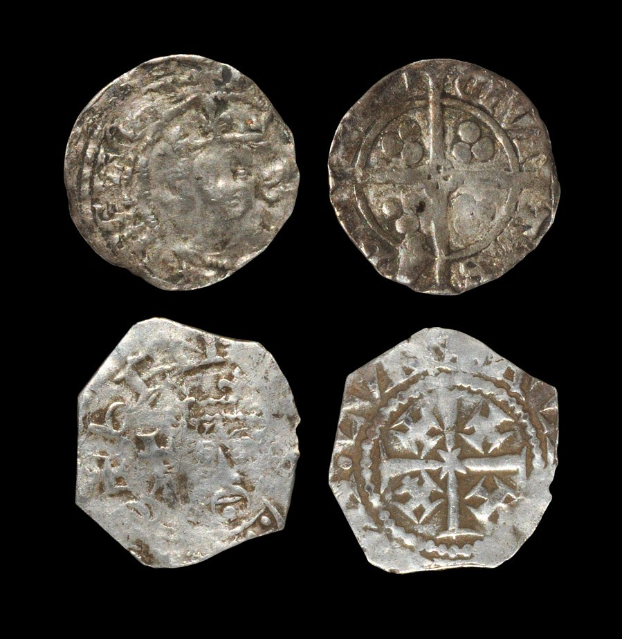 English Medieval Henry II and Richard II - Tealby and Long Cross Pennies [2] 1158-1180 AD, bust D-E