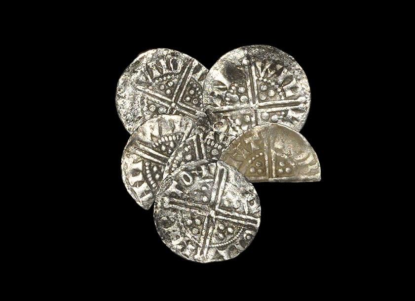 English Medieval Henry III - Long Cross Pennies & Cut Halfpennies [6] 1248-1272 AD, various