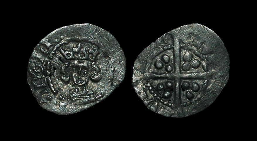 English Medieval Henry IV - London - Heavy Coinage Halfpenny 1399-1412 AD, heavy coinage. Obv: late