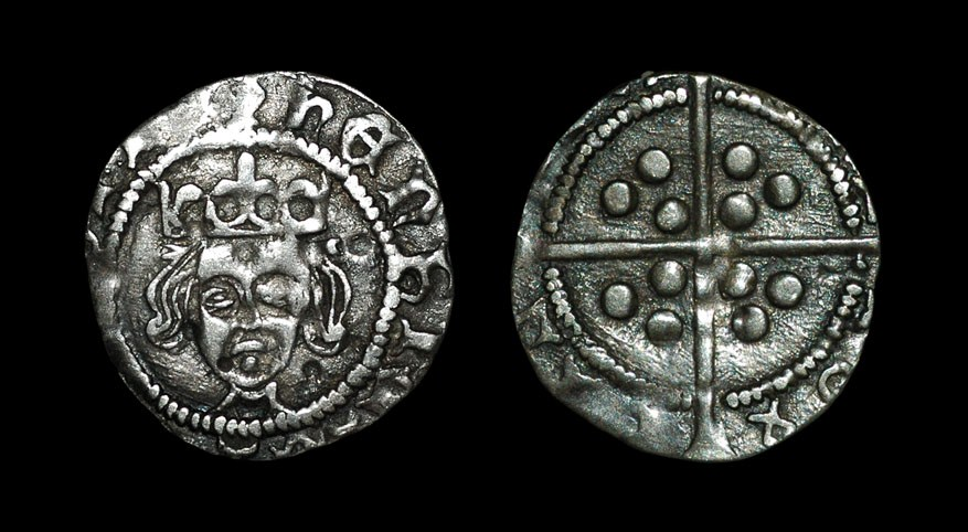 English Medieval Henry VI - Calais Mint? - Contemporary Forgery 1427-1435 AD, copy of a `Mascle`
