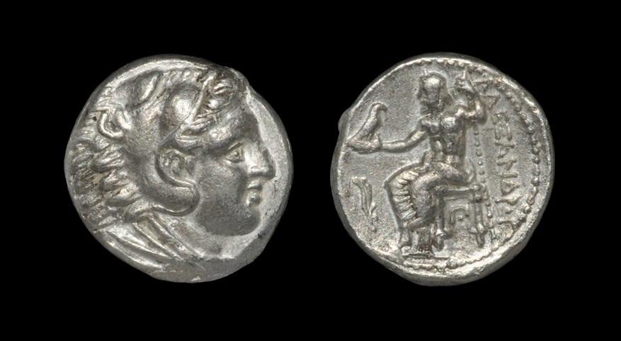 Greek Macedonia - Alexander III - Zeus Tetradrachm 320-317 BC, Amphipolis mint. Obv: head of