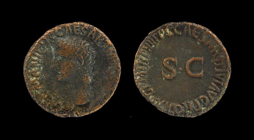 Roman Germanicus - Portrait As Struck under Caligula, 40-41 AD, Rome mint. Obv: GERMANICVS CAESAR