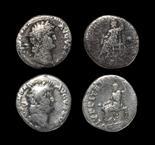 Roman Nero - Jupiter Denarii [2] 54-68 AD. Revs: IVPPITER CVSTOS legend with Jupiter seated left,