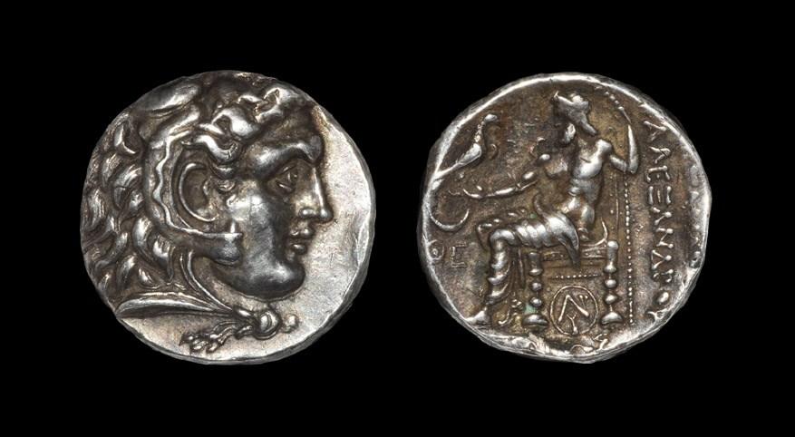 Greek Macedonia - Alexander III - Zeus Tetradrachm Circa 305-300 BC, Carrhae mint. Obv: head of