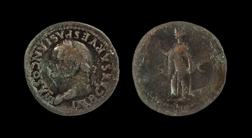 Roman Vespasian - Spes As 77-78 AD, Rome mint. Obv: IMP CAESAR VESPASIAN COS VIII legend with