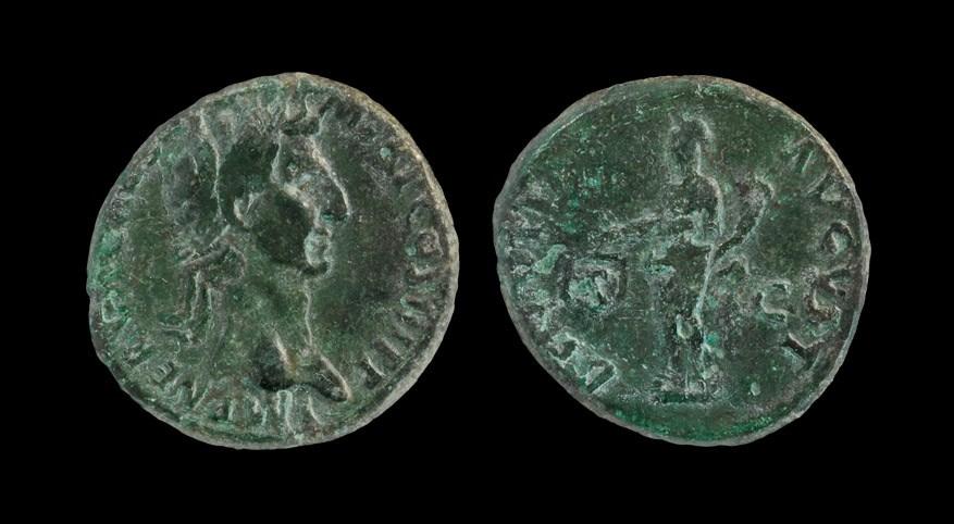 Roman Nerva - Aequitas As 97 AD, Rome mint. Obv: IMP NERVA CAES AVG P M TR P COS III P P legend