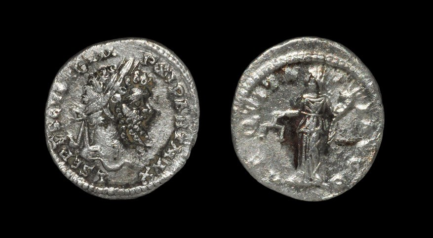 Roman Septimius Severus - Aequitas Denarius 199 AD, Rome mint. Obv: L SEPT SEV AVG IMP XI PART MAX