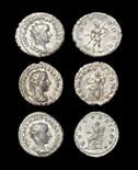 Roman Gordian III - Antoninianii [3] 238-244 AD. Revs: Mars walking right; Concordia seated left,