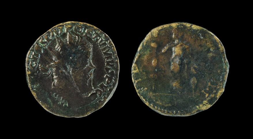 Roman Postumus - Fides Double Sestertius 259-268 AD, Lyons mint. Obv: IMP CM CASS LAT POSTVMVS P VG