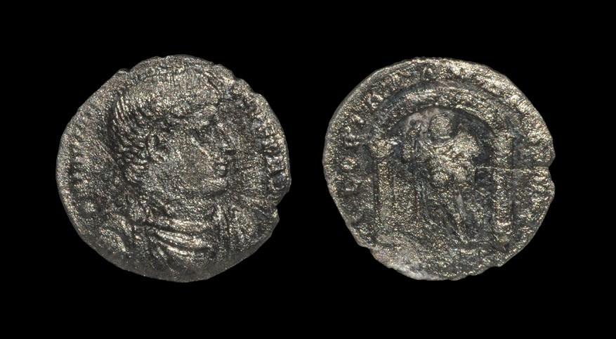 Roman Jovian - Emperor Standing Miliarense. 363-364 AD, Antioch mint. Obv: DN IOVIAN-VS PEP AVG