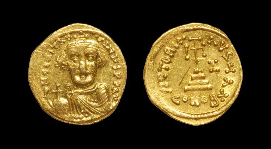 Roman Constans II - Victory Gold Solidus 641 AD or later, Constantinople mint. Obv: DN CONSTANTINUS
