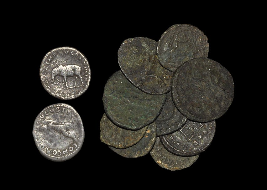 Roman Silver and Bronze Coin Group [11] Group of eleven roman coins comprising a denarius of