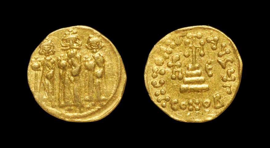 Byzantine Heraclius - Victory Gold Solidus 610-641 AD, Constantinople. Obv: Heraclius, crowned,