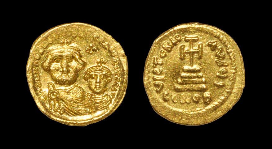 Byzantine Heraclius - Victory Gold Solidus 610-641 AD, Constantinople mint. Obv: dd NN hERACLIUS ET