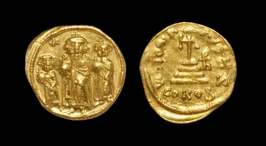 Byzantine Heraclius, Heraclonas and Heraclius Constantine - Victory Gold Solidius 610-641 AD,