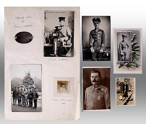 Lot 373 - Stephan Alexander Viktor Prinz zu Schaumburg-Lippe (21 June 1891-10 February 1965) - A collection of
