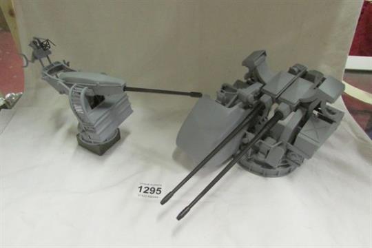 2 model Naval guns, GCM AO gun with KCB 30mm cannons and GAM