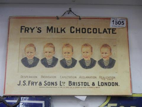 A Posteradvert For Frys Five Boys Chocolate Bars