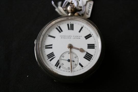 SILVER POCKET WATCH - with sterling silver hallmarks dating