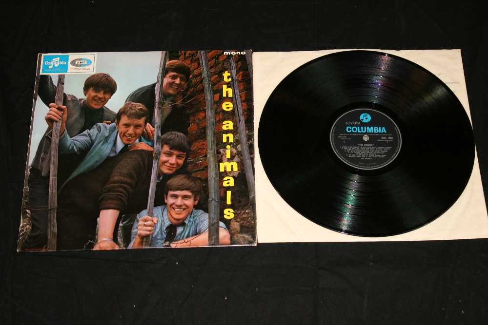 """Lot 256 - THE ANIMALS - self titled 1st press album by The Animals signed on the reverse """"To Brian Best Wishes"""