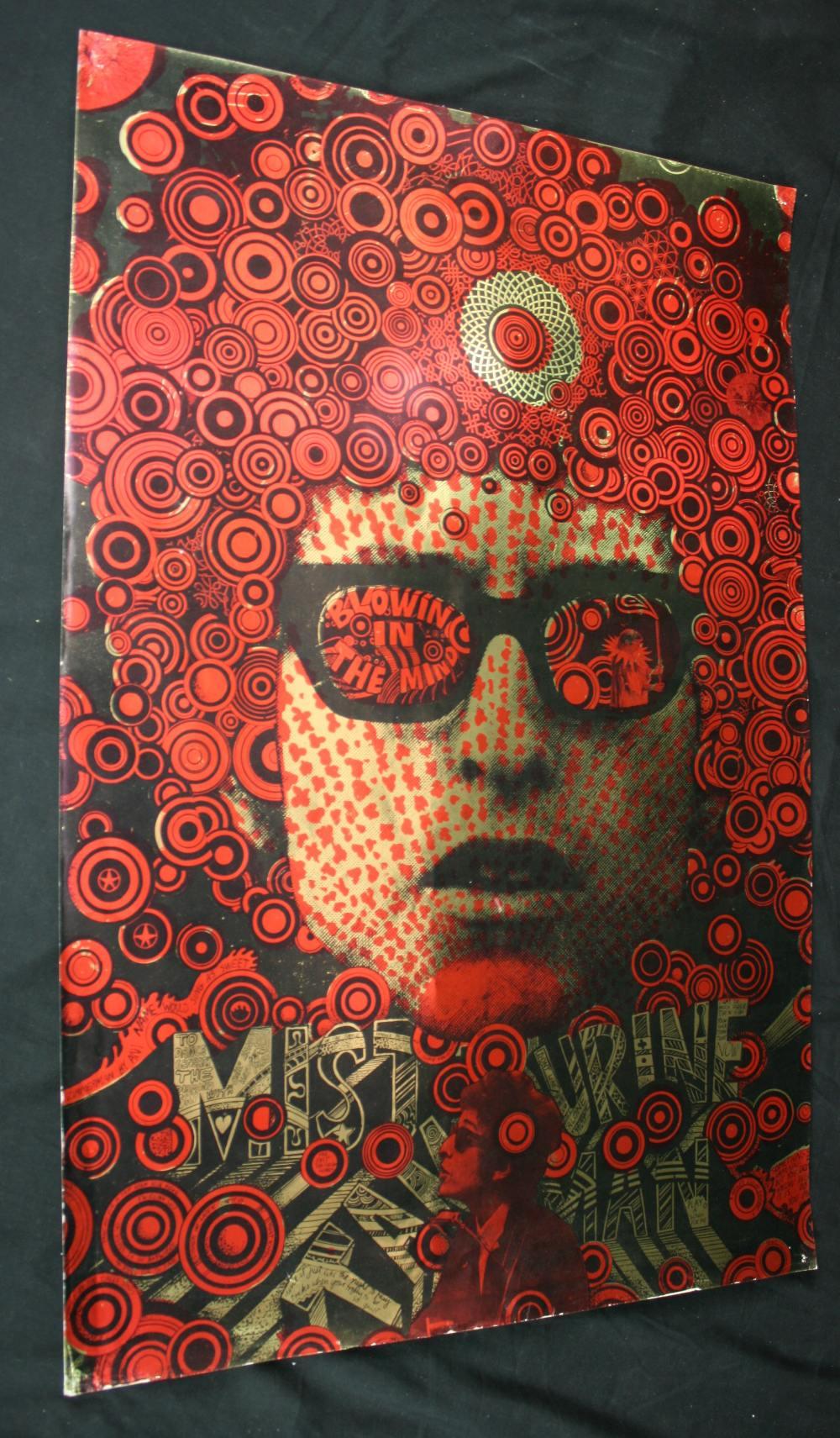 Bob Dylan Original Martin Sharp Blowing In The Mind Mr