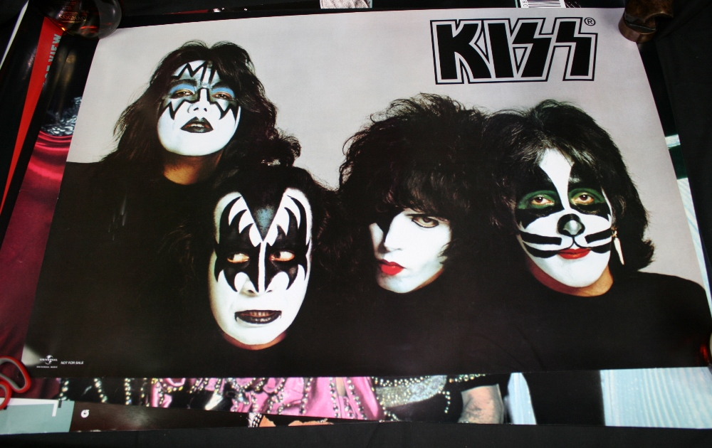 Lot 121 - KISS - set of eight KISS mainly recent promo posters to include ``Detroit Rock City, Kiss The Rules