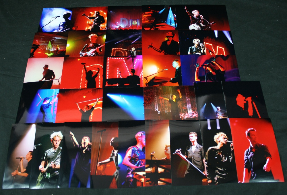 Lot 215 - DEPECHE MODE - 30 x original photographs of Depeche Mode performing live. Photographs taken by