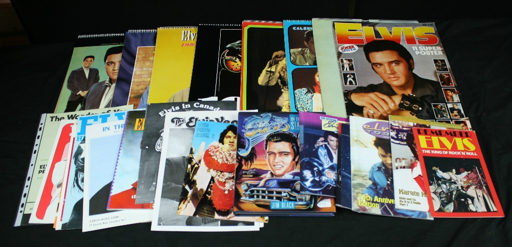 Lot 231 - ELVIS - collection of books and memorabilia to include 7 x pieces of sheet music, 7 x calendars (