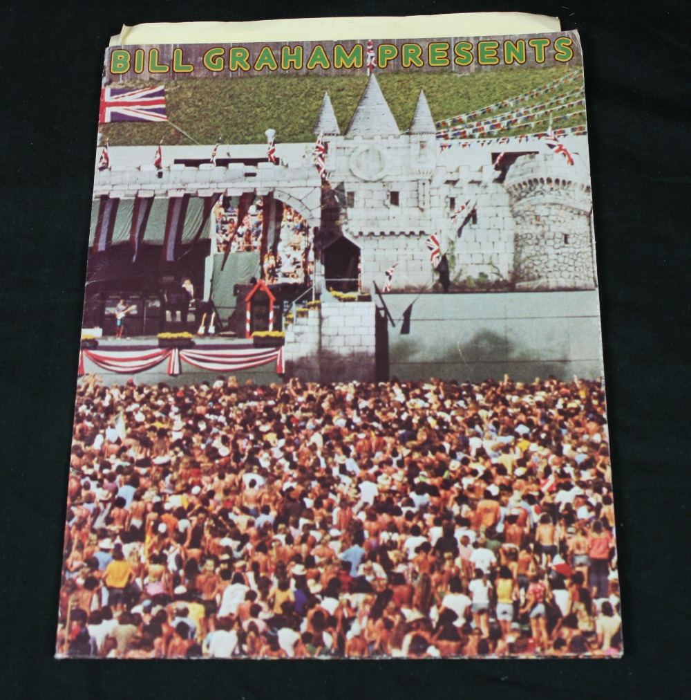 Lot 31 - BILL GRAHAM - promotional folder containing the range of merchandise being sold by Bill Grahams `
