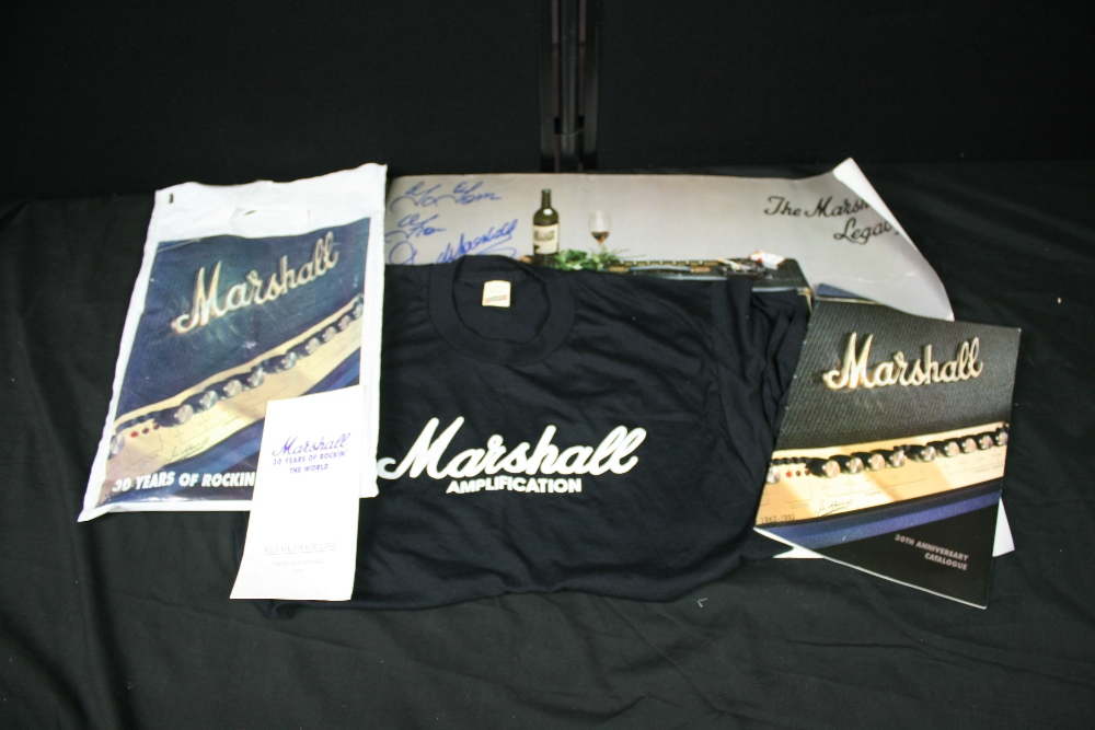 Lot 42 - MARSHALL - Collection of Marshall promotional items for their 30th anniversary in 1992 to include a