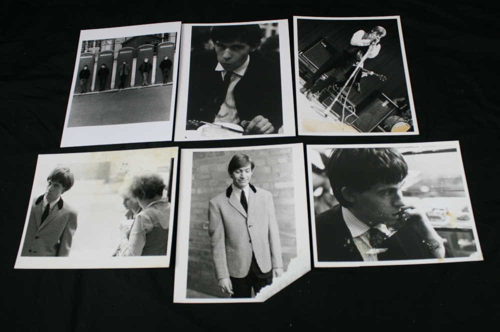 Lot 8 - ROLLING STONES - collection of 6 x black and white prints (10``x8``) taken during their first photo