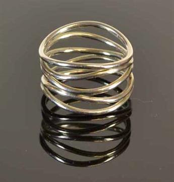 cc563588a Tiffany & Co. Elsa Peretti Wave Five-row Ring In sterling silver Stamped ?Elsa  Peretti Tiffany &