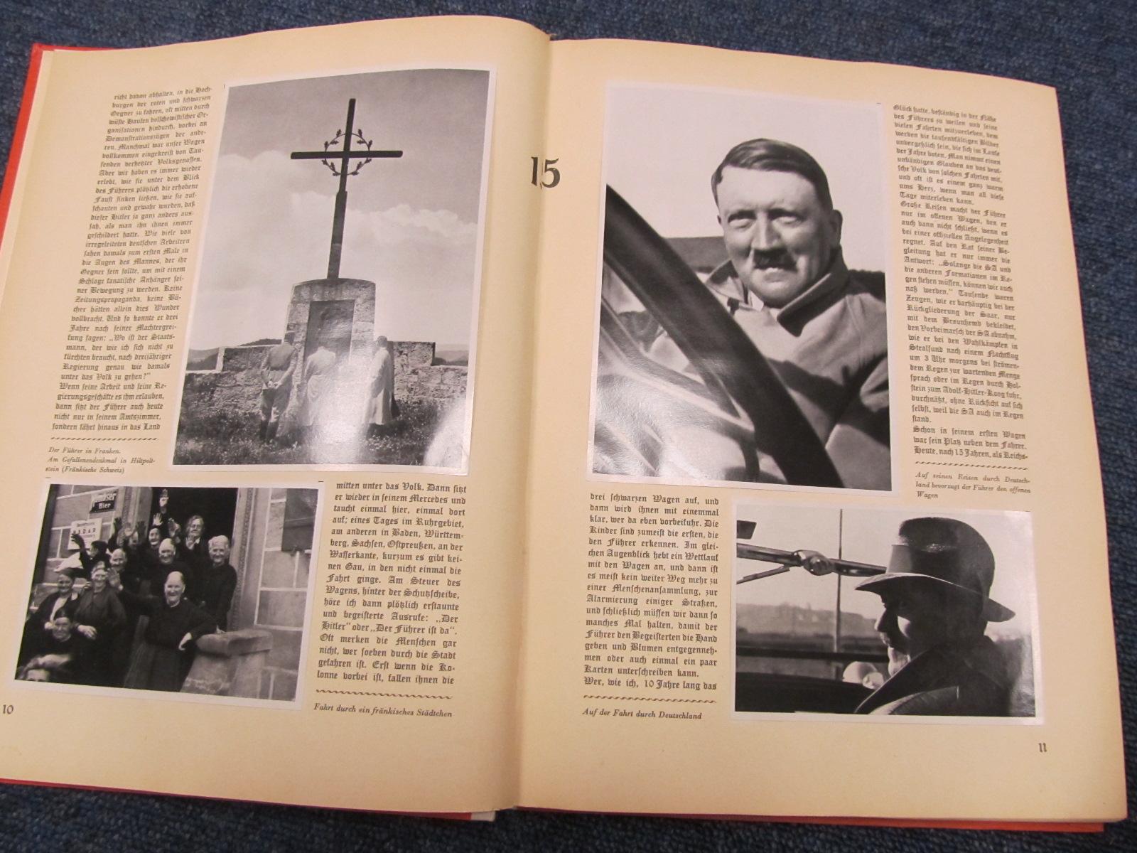 Lot 301 - German 1935 cigarette card album `Adolf Hitler`, original and complete. Plus a reproduction album