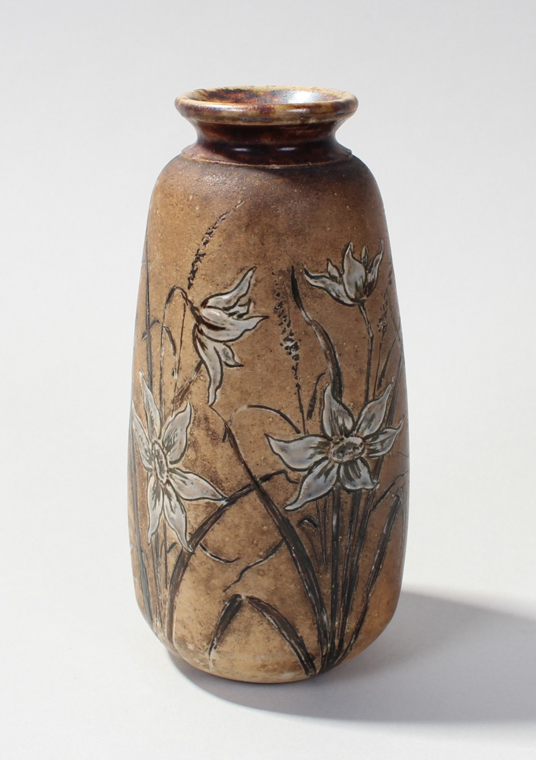 Martin brothers martinware vase with incised decoration of lot 719 martin brothers martinware vase with incised decoration of edelweiss flowers signed reviewsmspy