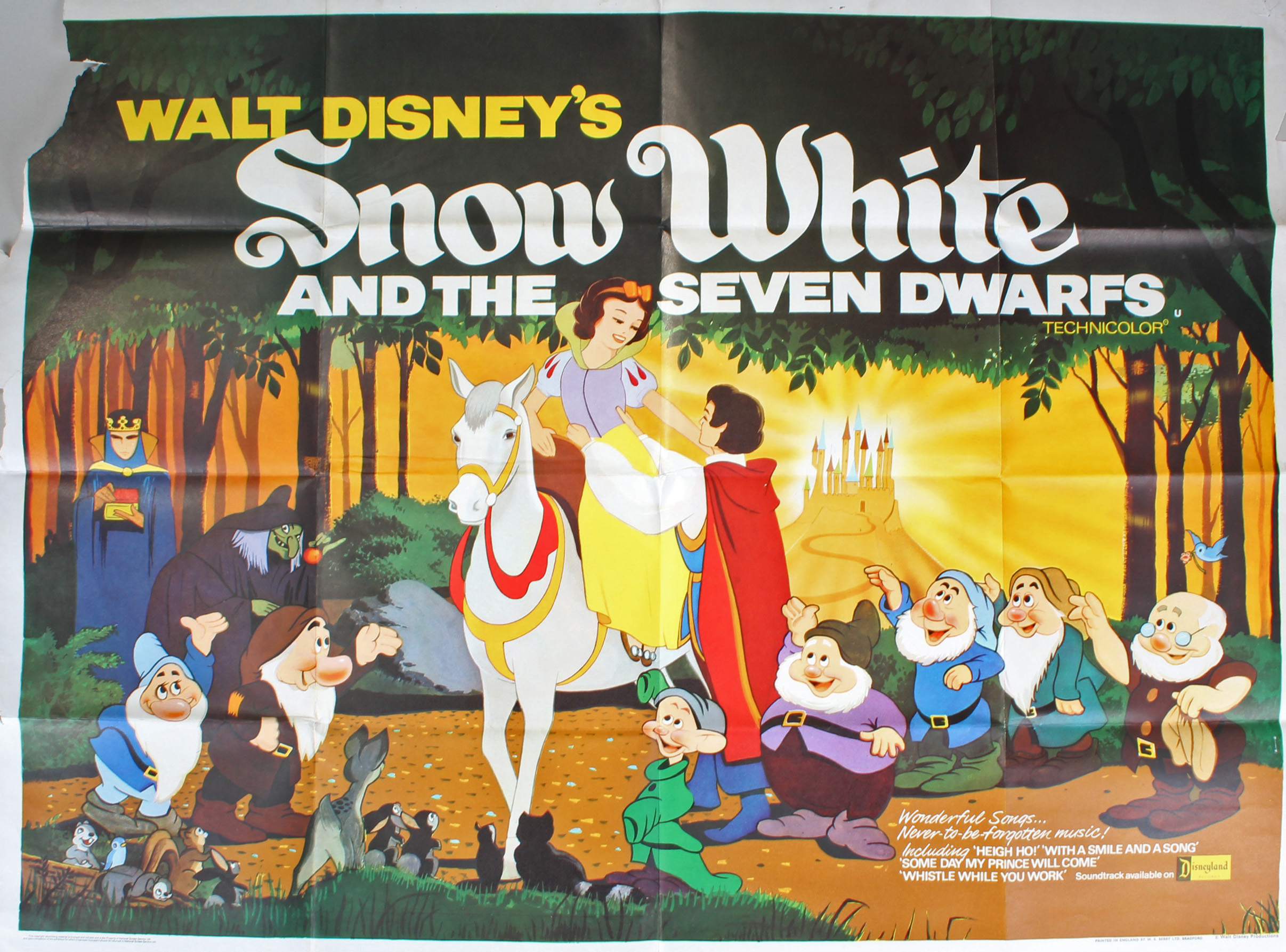 Original `Snow White and the Seven Dwarfs` film poster ...